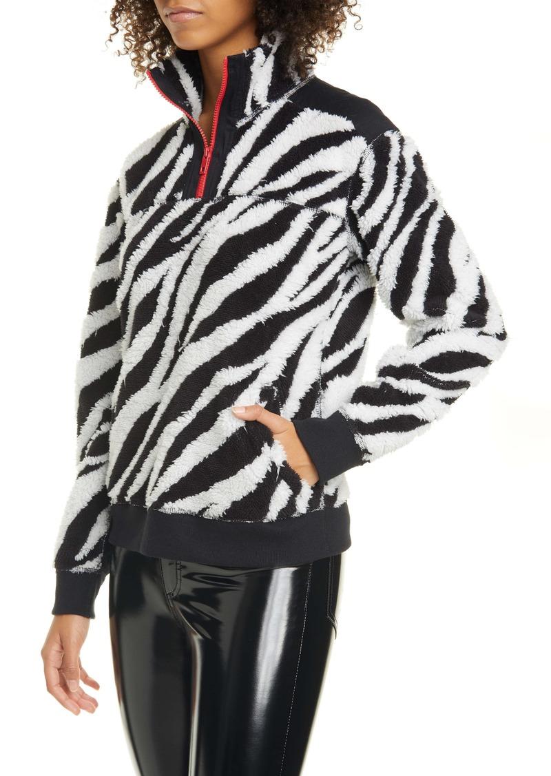 rag & bone Zebra Print Half Zip Pullover