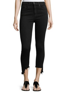 Rag & Bone 10-Inch Capri Jeans w/ Destroyed Hem