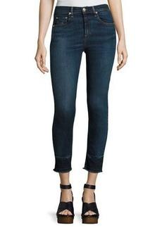 rag & bone/JEAN 10 Inch Capri Jeans with Released Hem