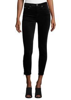 rag & bone/JEAN 7 Inch Zipper Velvet Capri Jeans