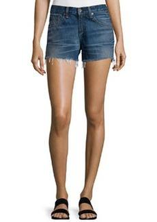 rag & bone/JEAN Mid-Rise Denim Boyfriend Cutoff Shorts