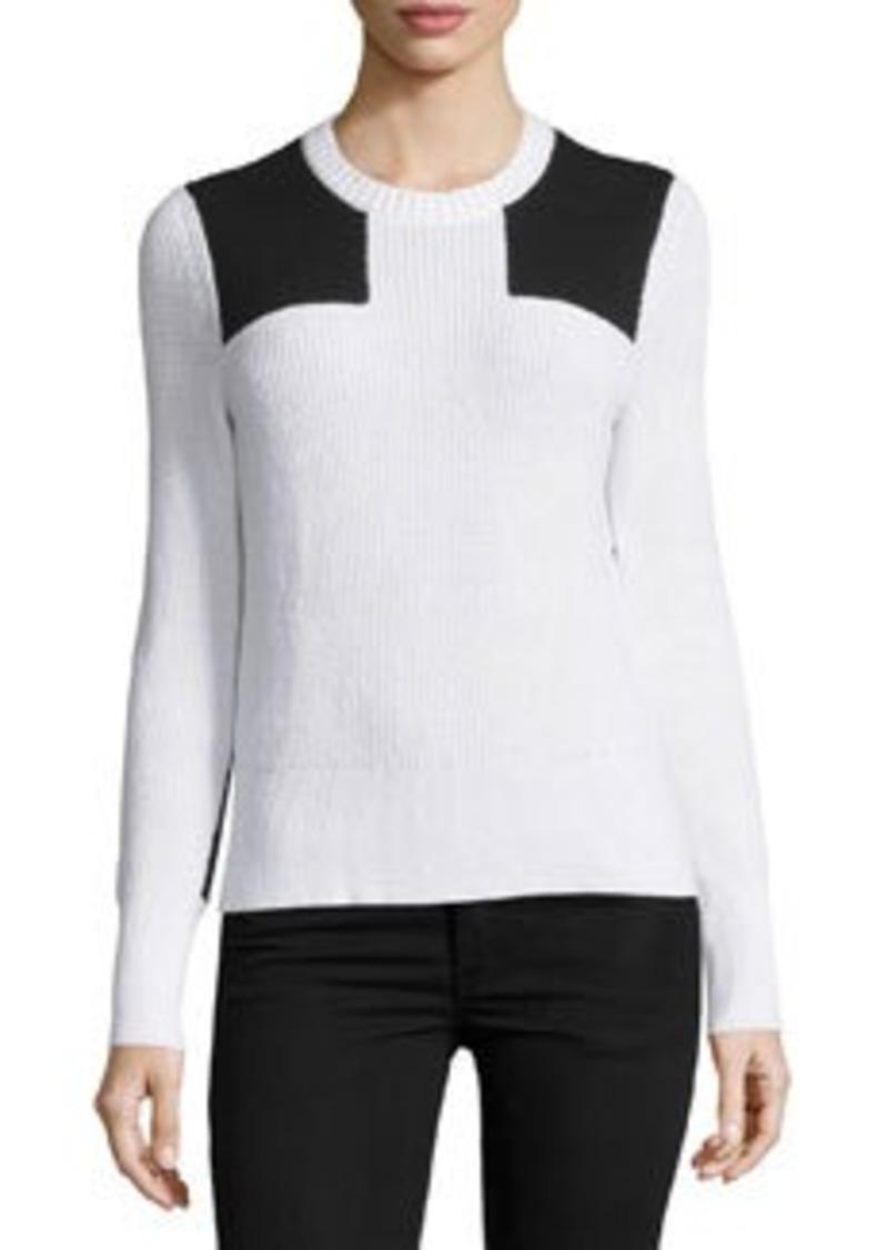 rag & bone/JEAN Gaia Two-Tone Ribbed Pullover