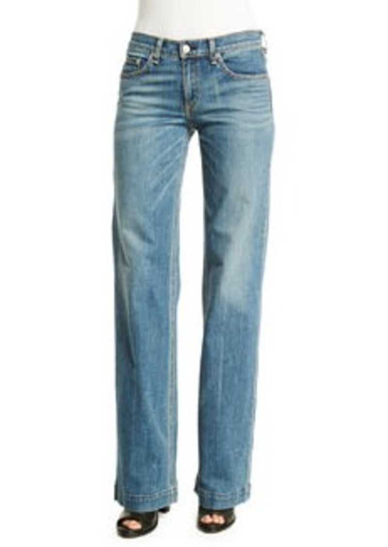 rag & bone/JEAN Mid-Rise Wide-Leg Jeans
