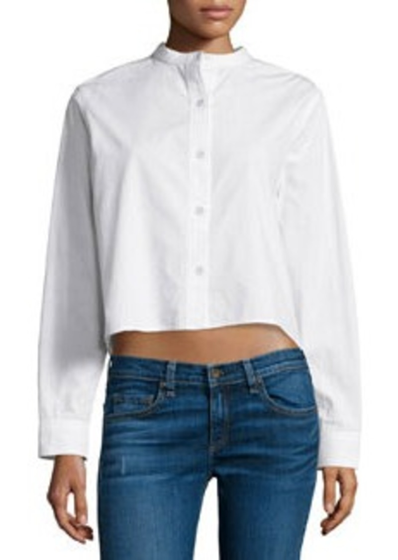 rag & bone/JEAN Leeds Button-Front Cropped Blouse