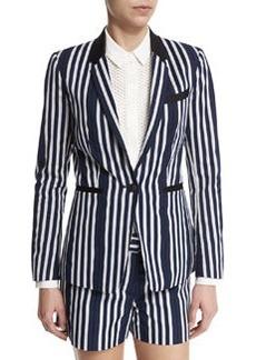 rag & bone/JEAN Windsor Striped Woven Blazer