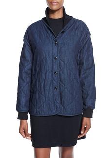 rag & bone/JEAN Addison Quilted Denim Jacket