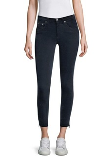 rag & bone/JEAN Ame Velvet Skinny Jeans with Ankle Zips