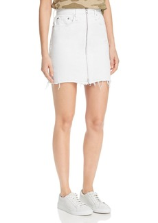 rag & bone Anna Zip-Front Denim Skirt