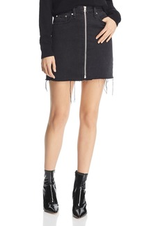 rag & bone Anna Zip-Front Denim Skirt