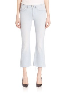 rag & bone/JEAN Raw-Hem Cropped Flared Jeans