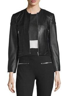 rag & bone/JEAN Astor Leather Zip-Front Jacket