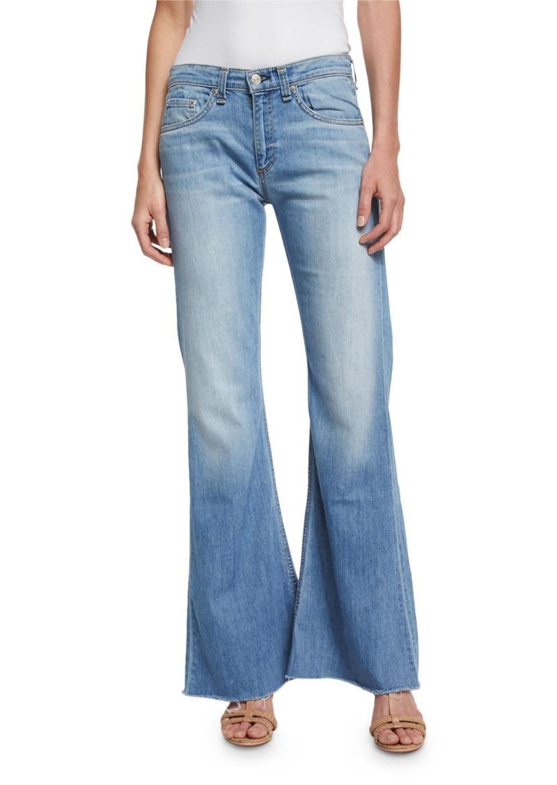 rag & bone/JEAN Beach Mid-Rise Bell-Bottom Jeans