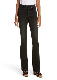 rag & bone/JEAN Bella Flare Jeans (Worn Black)