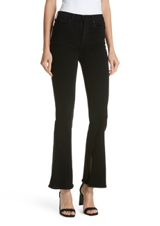 rag & bone Bella Flare Jeans (Worn Black)