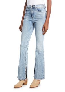 rag & bone/JEAN Bella Slim Flared Jeans with Slit Hem