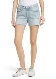 rag & bone/JEAN Boy Fray Denim Shorts (Martini)
