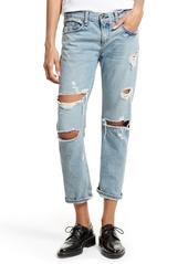 rag & bone/JEAN Boyfriend Jeans (Beckers Ripped Med Indigo)