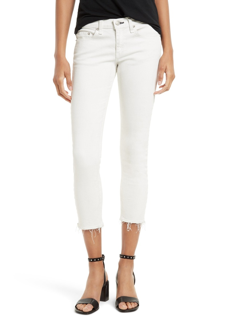 style de mode baskets moitié prix rag & bone rag & bone/JEAN Capri Skinny Jeans (Blanc with Fray) | Denim