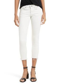 rag & bone/JEAN Capri Skinny Jeans (Blanc with Fray)