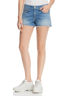 rag & bone Cate Mid-Rise Denim Shorts in Brandon