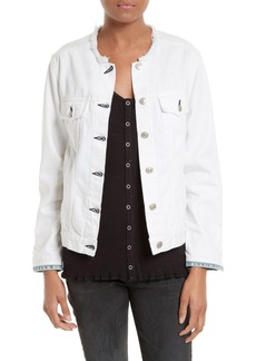 rag & bone/JEAN Collarless Denim Jacket