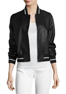 rag & bone/JEAN Cooper Leather Bomber Jacket