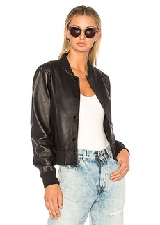 rag & bone/JEAN Cooper Leather Bomber Jacket in Black. - size M (also in XS,S)