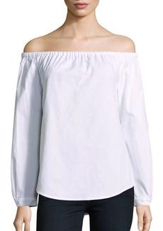 rag & bone/JEAN Cotton Off-The-Shoulder Top