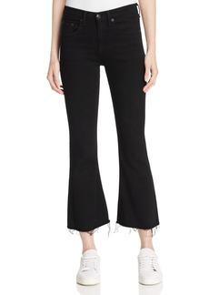 rag & bone/JEAN Crop Flare Jeans in Black Coal
