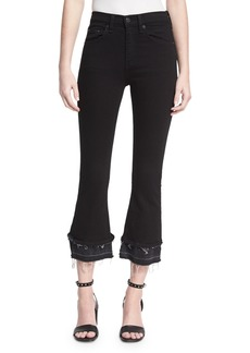rag & bone/JEAN Crop Flare Released-Hem Denim Jeans