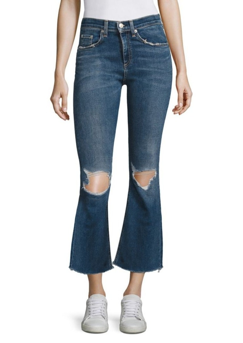 rag & bone/JEAN Cropped Flare Jeans