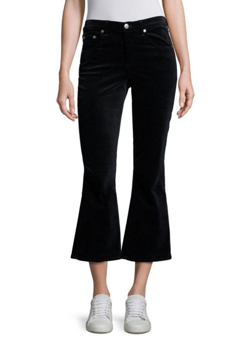 rag & bone/JEAN Cropped Flare Velvet Jeans