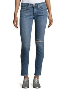 rag & bone/JEAN Cropped Skinny Jeans with Released Hem
