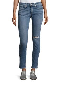 rag & bone/JEAN Cropped Skinny Jeans with Released Hem