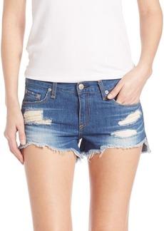 rag & bone Cut-Off Distressed Denim Shorts