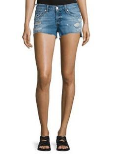 rag & bone/JEAN Cutoff Distressed Denim Shorts