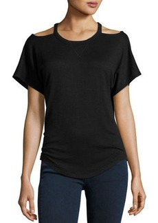rag & bone/JEAN Cutout Short-Sleeve T-Shirt