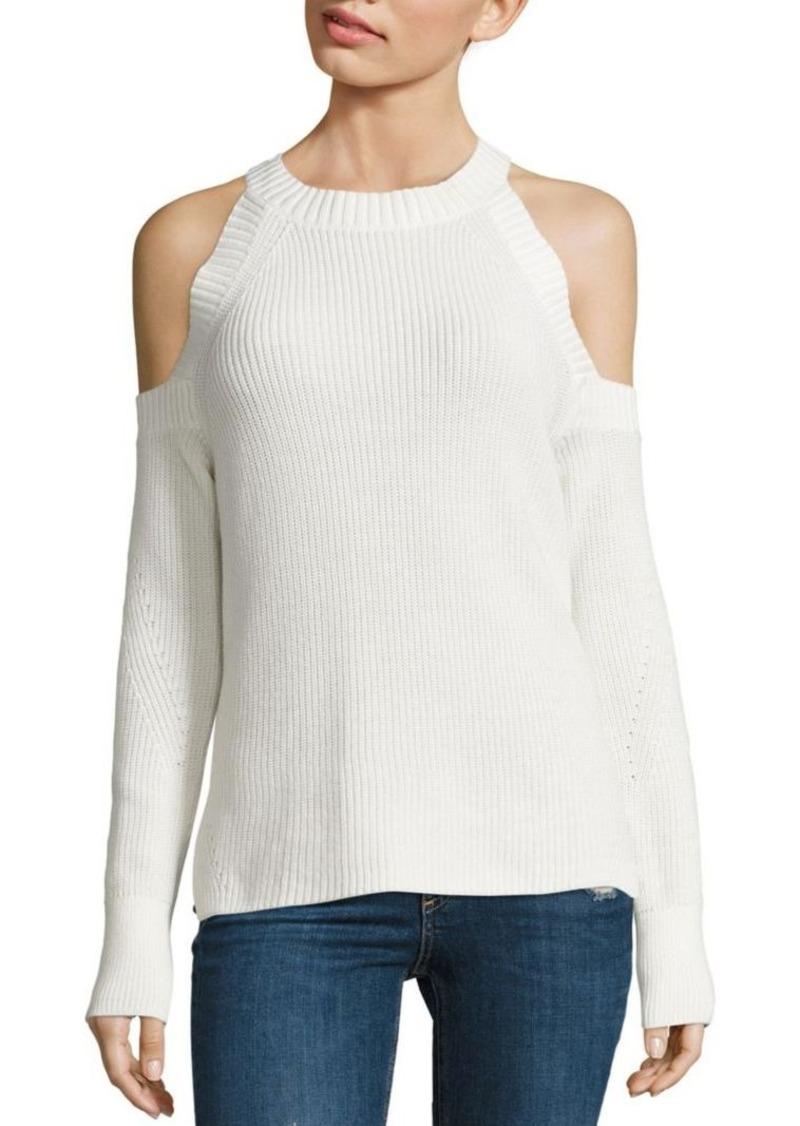rag & bone/JEAN Dana Cold-Shoulder Cotton Sweater