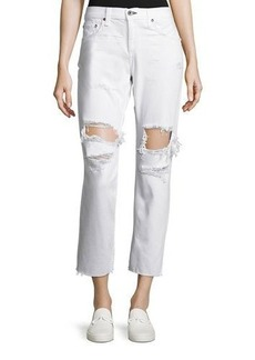 rag & bone/JEAN Destroyed Boyfriend Ankle Jeans