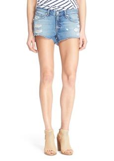rag & bone/JEAN Destroyed Cutoff Denim Shorts (Gunner)