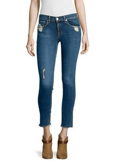 rag & bone/JEAN Destroyed Dark Skinny Jeans