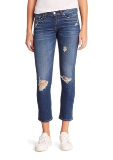 rag & bone/JEAN Distressed Ankle Jeans