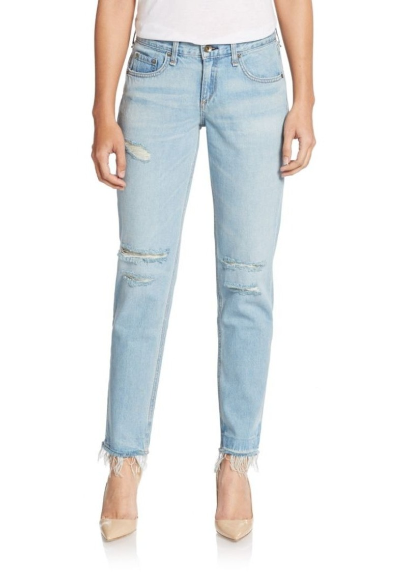 rag & bone/JEAN Distressed Boyfriend Jeans