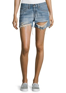 rag & bone/JEAN Distressed Boyfriend Shorts