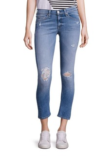 rag & bone/JEAN Distressed Cropped Capri Jeans