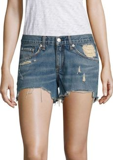rag & bone/JEAN Distressed Cut-Off Denim Shorts/Winnie