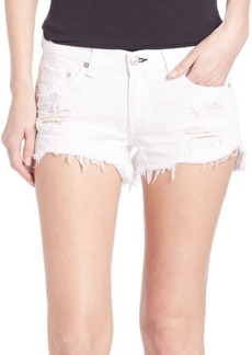 rag & bone/JEAN Distressed Denim Cutoff Shorts