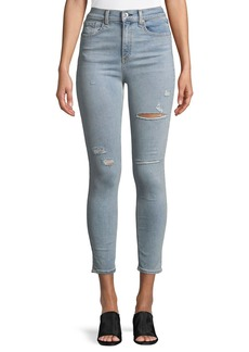 Rag & Bone Distressed High-Rise Ankle Skinny Jeans