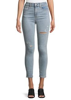 Rag & Bone Distressed High-Rise Ankle Skinny Jeans