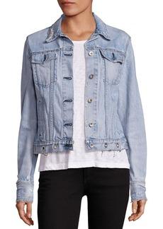 rag & bone/JEAN Distressed Studded Jacket